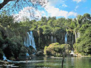 Kravice lake and falls in Croatia