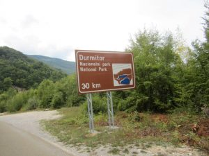 Sign when you enter Durmitor National Park