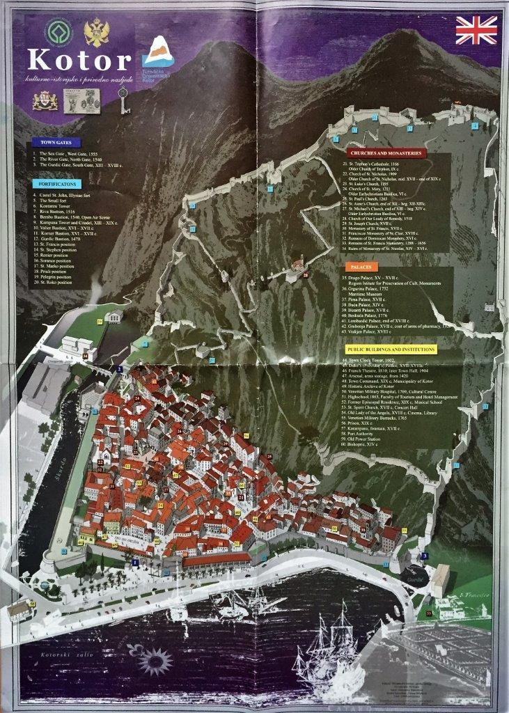 Kotor Old Town Map