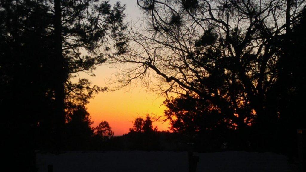 Sunset in Idyllwild