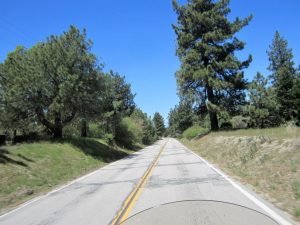 Route 74 heading to Idyllwild