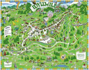 Idyllwild caricature map