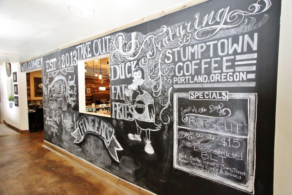 Stone Creek Bistro art wall