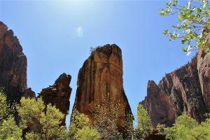 Sandstone spires Zion National Park