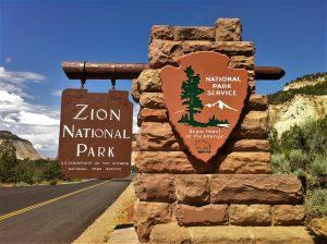Zion National Park sign
