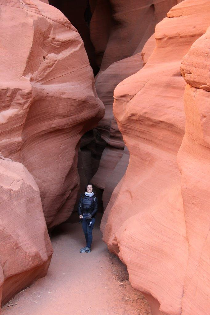 Rebecca at the upper end of Antelope Canyon