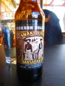 Sarsaparilla soda at Burr Trail Grill