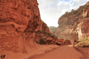 Off the paved roads where it's just you and the canyons Capitol Reef