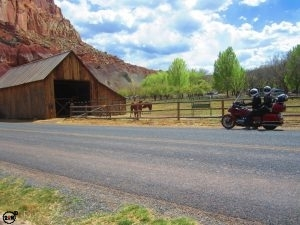 Classic historical barn in Fruita within Capitol Reef National Park