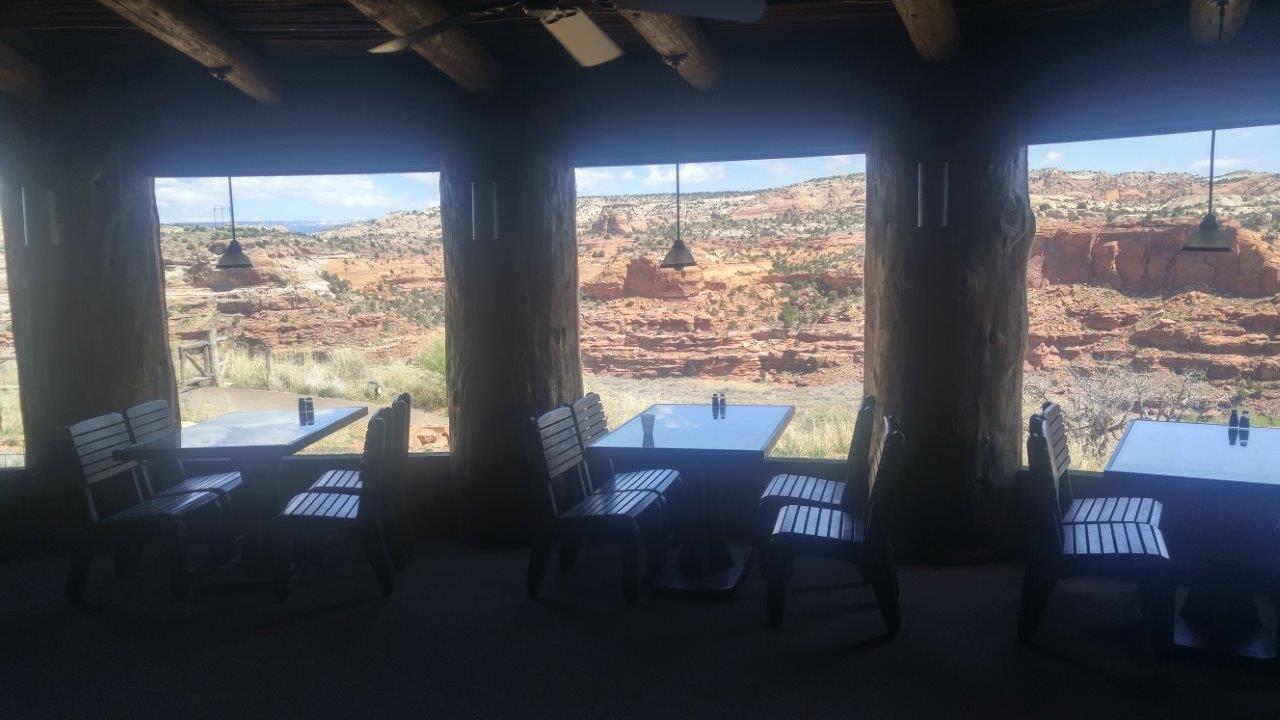 Great views of the canyon at Kiva Koffeehouse