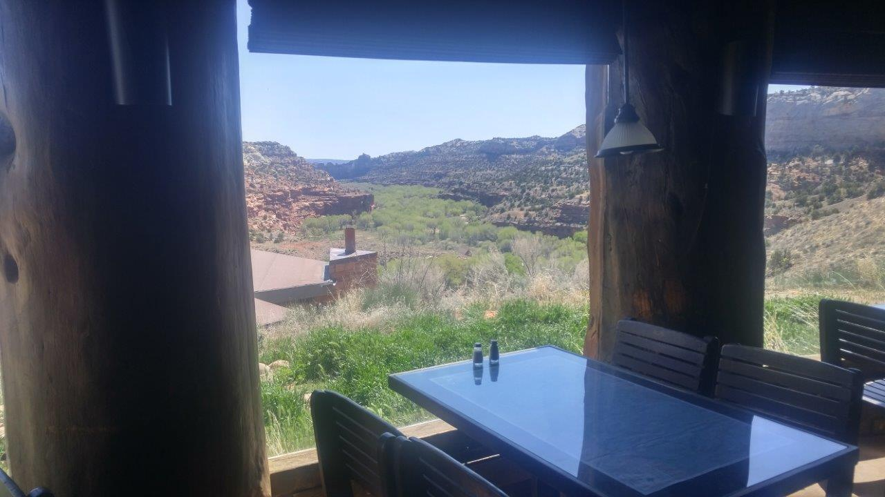 Table with a view at Kiva Koffeehouse