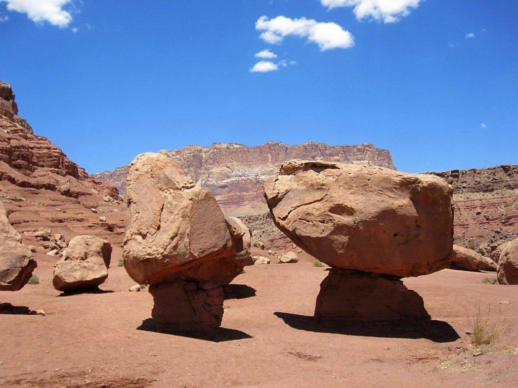 Balanced rocks at Lee's Ferry