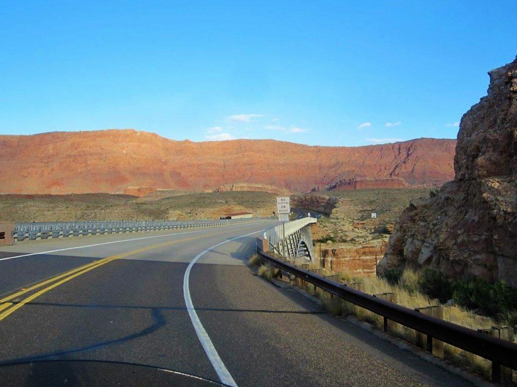 Approaching Navajo Bridge
