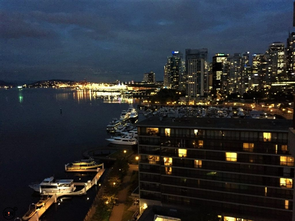 Night time in Vancouver
