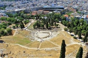 The Theater of Dionysus ruins